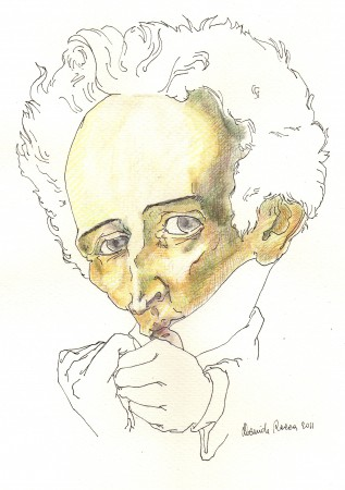 DAVIDE RACCA, Ritratto di Giacomo Leopardi, 2012.