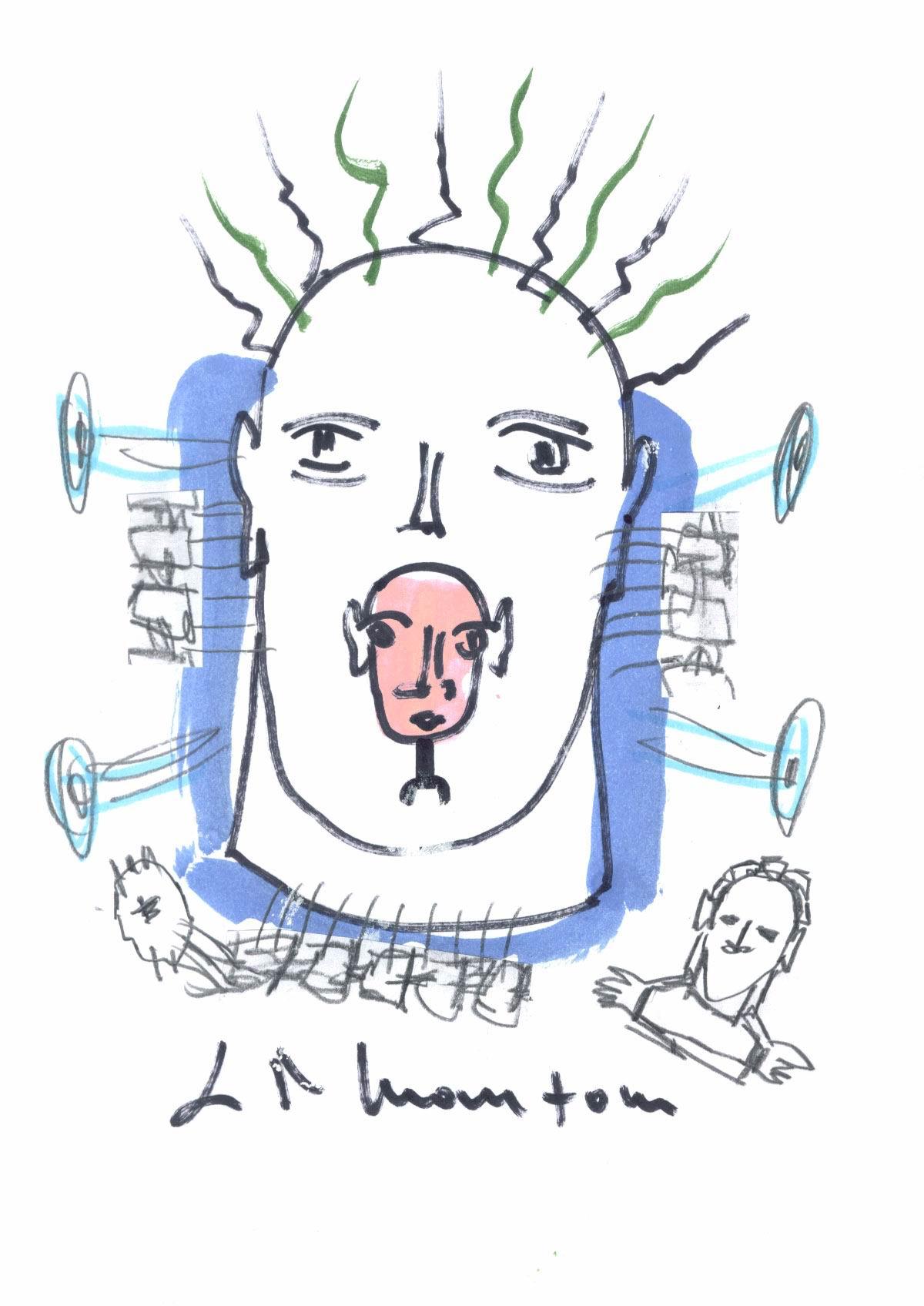 Disegno di Gian Ruggero Manzoni
