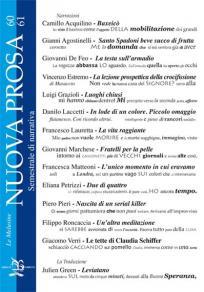 La copertina del numero 60 di NUOVA PROSA