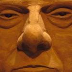 Sislej Xhafa, Silvio Berlusconi, Scultura in sabbia, 2010, particolare