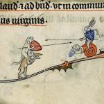 Battaglia di animali, Decretale di Gregorio IX (Francia fine XII-inizio XIII sec.)