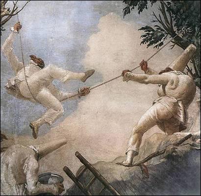 Giandomenico Tiepolo, L'altalena di Pulcinella (1793)