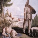 Giandomenico Tiepolo, La partenza di Pulcinella (1797)