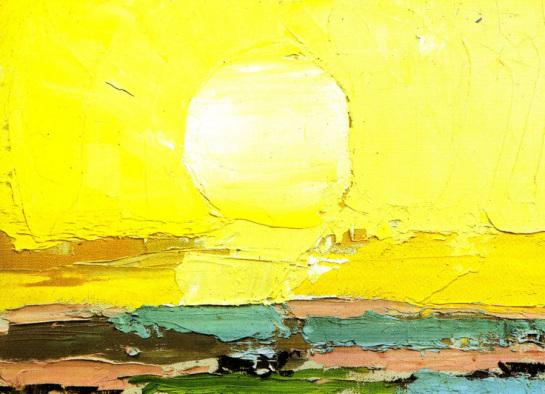 Nicolas de Stael, Le soleil (1952)