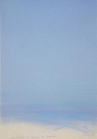 Piero Guccione, Davanti al mare di Sampieri (1994, pastello)