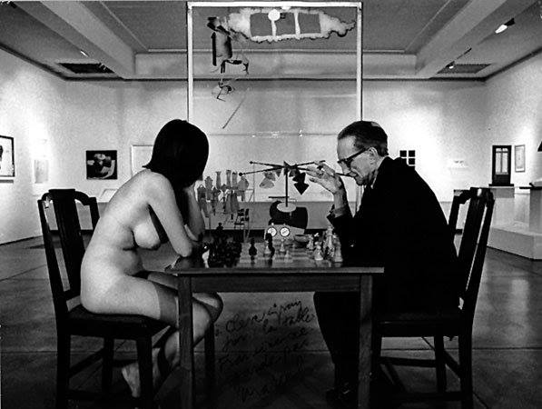 Julian Wasser, Eve Babitz and Marcel Duchamp