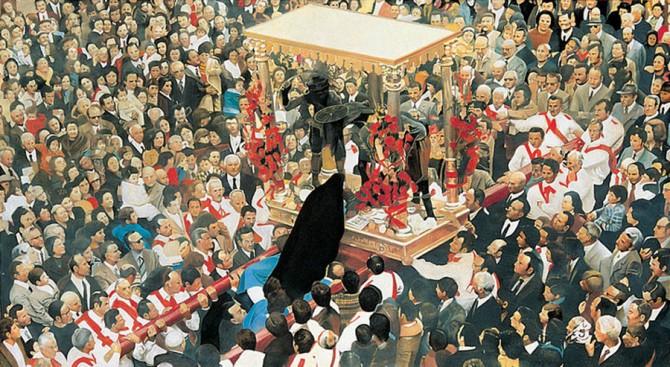 Francesco Lauretta, Idola, olio su tela, 1998