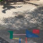 """Il cortile del Centro """"La lucertola"""" di Ravenna"""