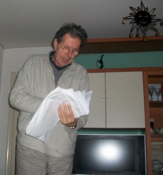 Gianni Celati ad Angri nel 2011 (foto di Enrico De Vivo)
