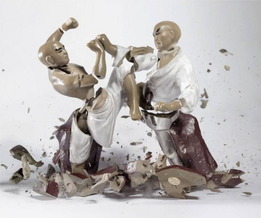 Shattered Porcelain Figurines Photographed by Martin Kilmas