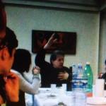 Gianni Celati ad Angri nell'aprile 2010 (fotogramma di un video di Enrico De Vivo)